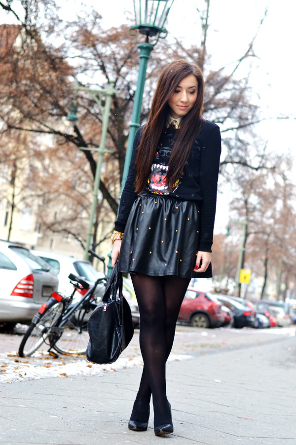 flirting with fashion sweater blouse skirt shoes bag