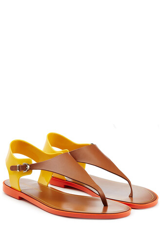 sandals leather multicolor shoes