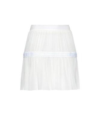 skirt chiffon skirt chiffon silk white