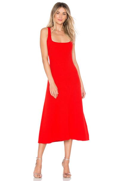 Mara Hoffman dress red