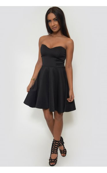 Black Strapless Skater Dress - from The Fashion Bible UK