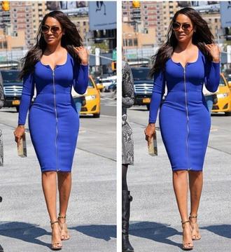 dress blue zip