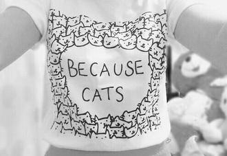 shirt cats white t-shirt