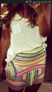 skirt,multi-coloured