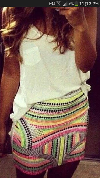skirt multi-coloured