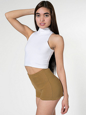 Cotton Ottoman High-Waist Hot Short | American Apparel