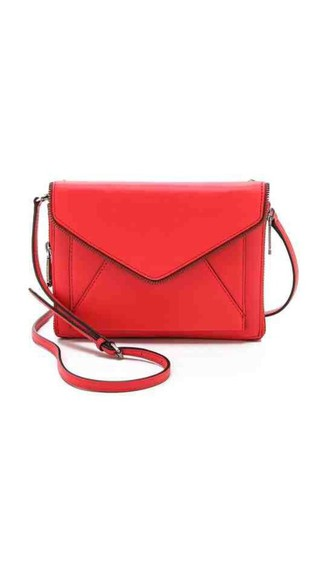 bag red bag cross bag haute couture leather bag