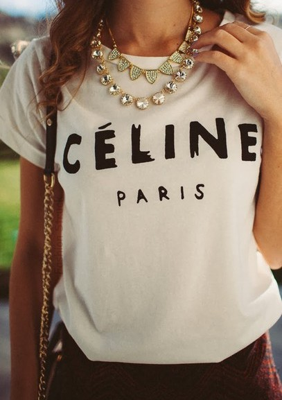 Celine paris shirt · fashion struck · online store powered by storenvy