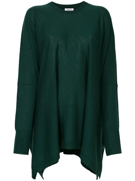 P.A.R.O.S.H. sweater oversized women wool green
