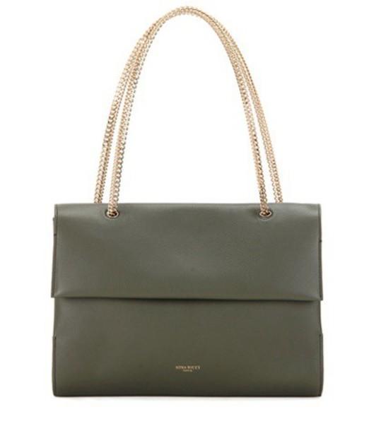 Nina Ricci Leather Shoulder Bag in green