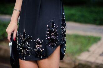 dress embellished beaded shift dress
