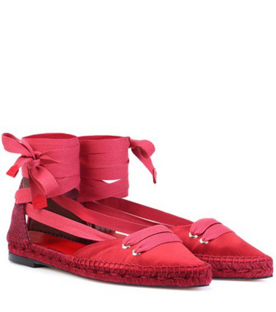 Castañer by Manolo Blahnik espadrilles satin red shoes