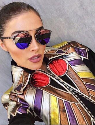 jacket olivia culpo sunglasses instagram