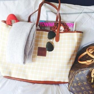 bag leather preppy tote bag