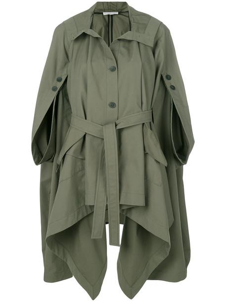 coat parka women cotton green