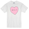 Pink heart t-shirt - basic tees shop