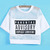 White Contrast Hollow Mesh Yoke Letters Print Top - Sheinside.com
