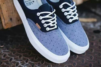 shoes polka dots vans navy skater