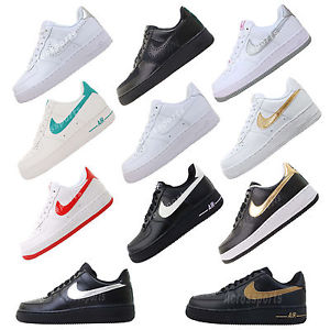 46fe78b3320f Nike Wmns Air Force 1 White   Black Pack Womens Casual Shoes ...
