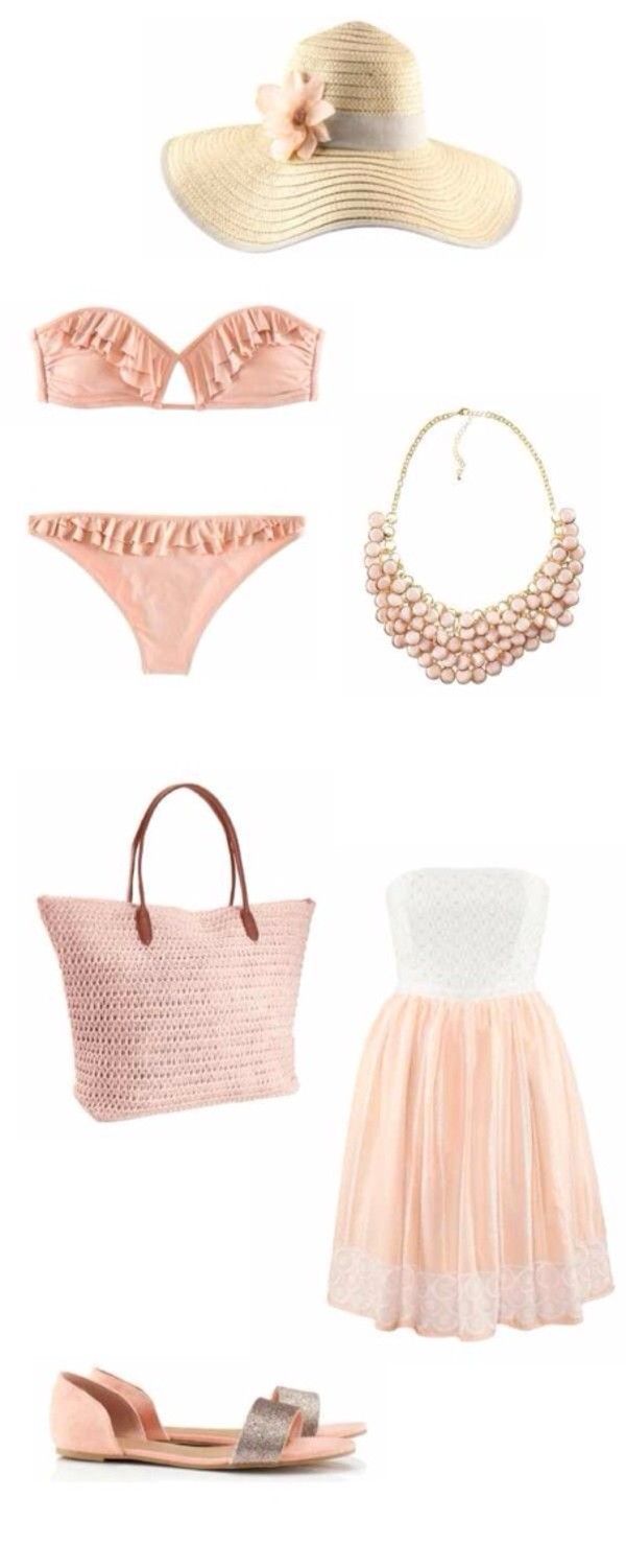 swimwear hat bag jewels dress shoes