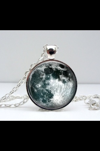 jewels necklace planets moon moon necklace jewelry round style