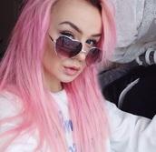 sunglasses,heart,heart glasses,hipster,girly
