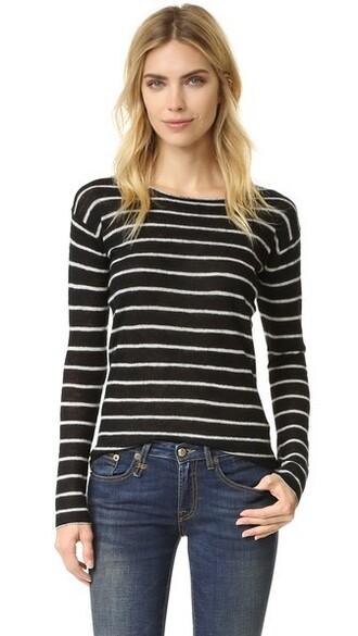 top knit white black
