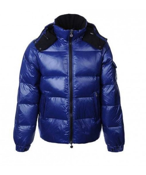 Moncler Alpes Men Jacket Blue Bj130544