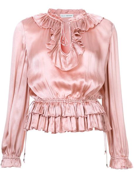 Ulla Johnson blouse women silk purple pink top