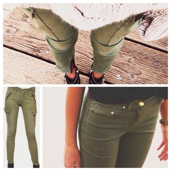 Pants khaki pants khaki jeans trendy spring outfits casual army pants khaki pants green ...