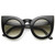 Designer Inspired Large Round Circle Pointed Cat Eye Sunglasses 9180