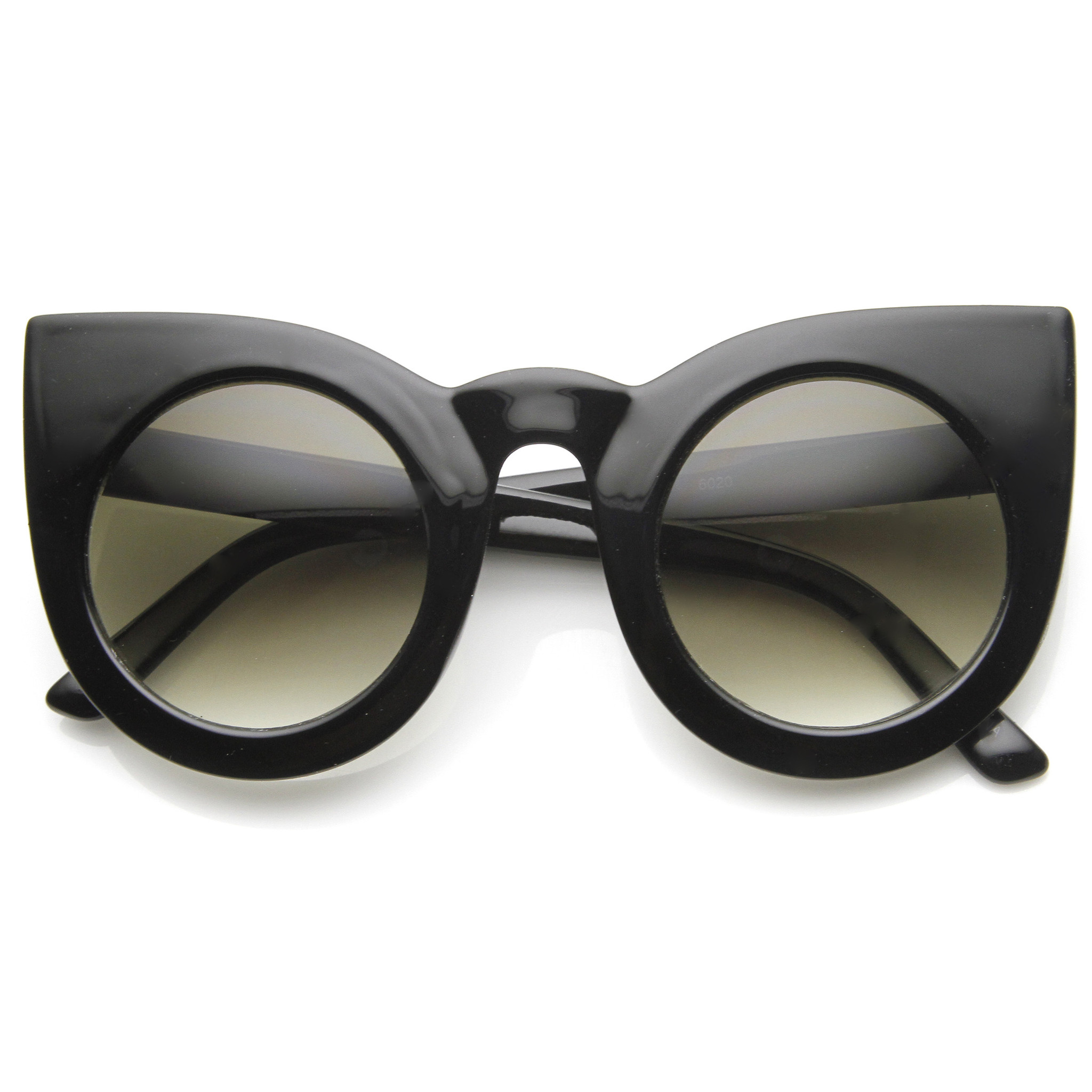 Designer inspired large round circle pointed cat eye sunglasses 9180