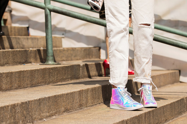 normcore nike silver shoes sneakers high top sneakers