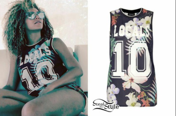shirt locals no sleeves queen b style swag new jersey sexy shirt colorful