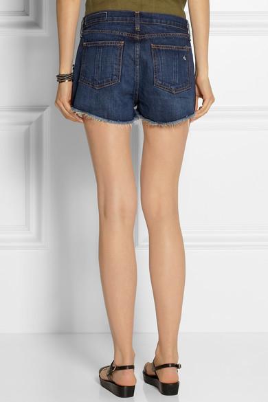 Rag & bone|Mila cut-off denim shorts|NET-A-PORTER.COM