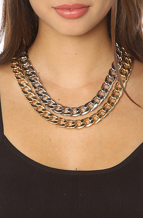 8 Other Reasons Chain Necklace Two Timer Double -  Karmaloop.com