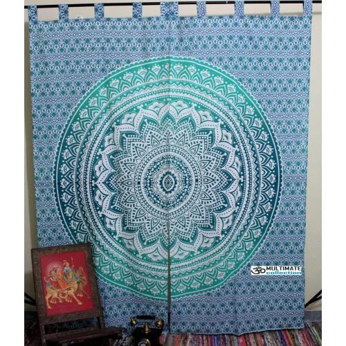 & Mandala Hippie Tapestry Curtain Bohemian Door Curtain