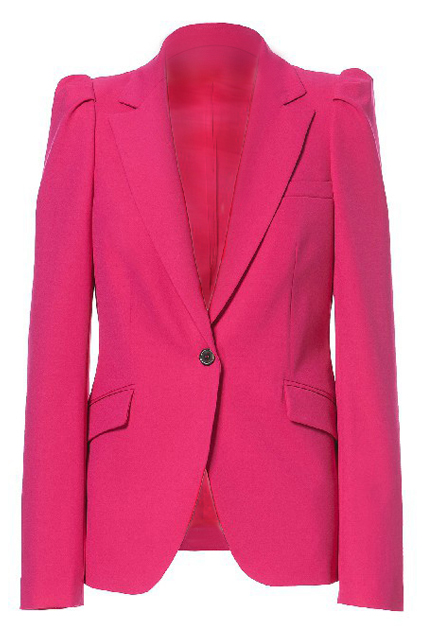 ROMWE | ROMWE Long Sleeves Buttoned Sheer Rose Blazer, The Latest Street Fashion