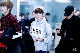 sweater hoodie hba luhan xi luhan exo exo m airport grey airport fashion