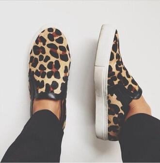shoes leopard print slippers vans skater mens slip ons