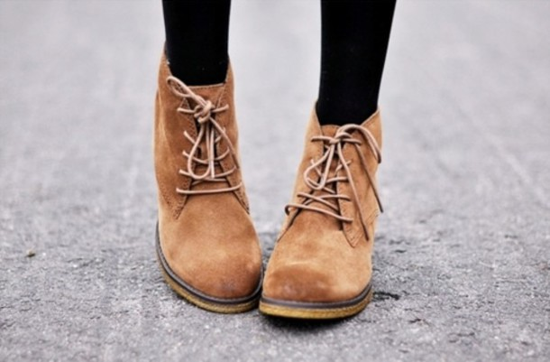 Shoes: boots, brown shoes, brown, lace up, ankle boots, brown ...