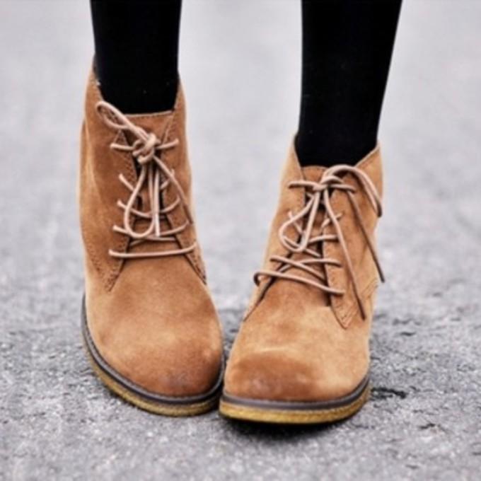 Breckelles SANDY21 Ballet Lace Up Oxfords Ballerina Shoes Flat Sandals Loafer, Tan Beige Faux Suede For Women