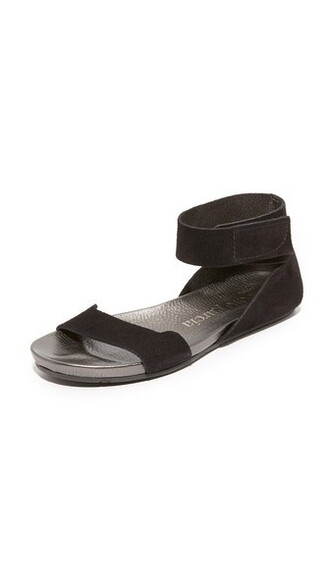 sandals flat sandals black shoes