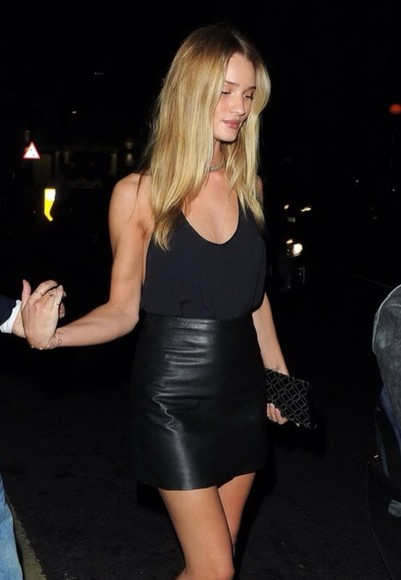 kate moss blouse leather skirt black blouse model skirt chiffon