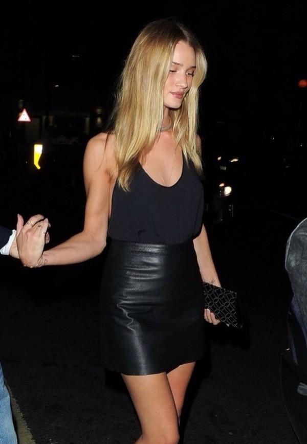 blouse leather skirt black blouse model skirt chiffon