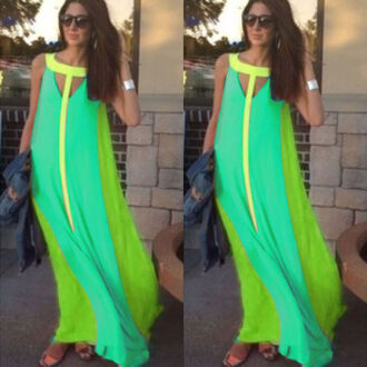 dress ladies boho summer maxi chiffon dress maxi dress long dress green casual amazing clothes chiffon dress summer ladies