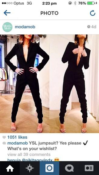 black ysl jumpsuit jacket sydney fashion blogger