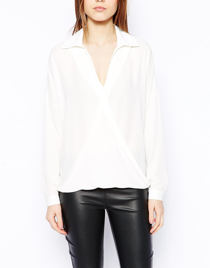 ASOS Wrap Front Blouse at asos.com