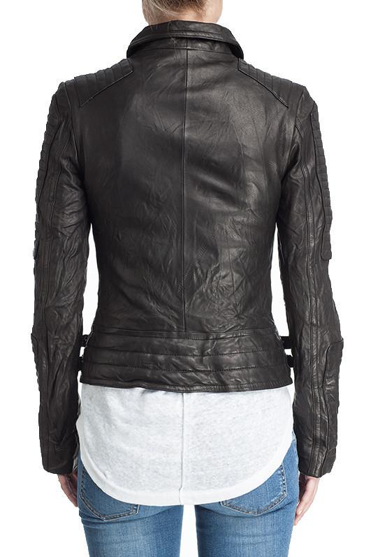 Moto Leather Jacket - Black