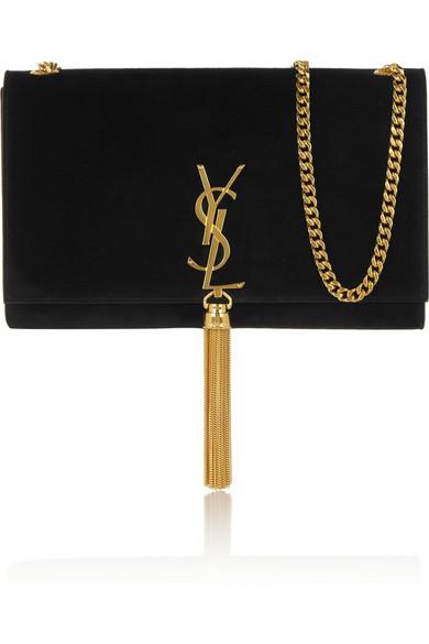 Monogramme suede shoulder bag